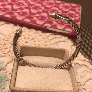 Authentic David Yurman Cable Bracelet w/ 14K Gold